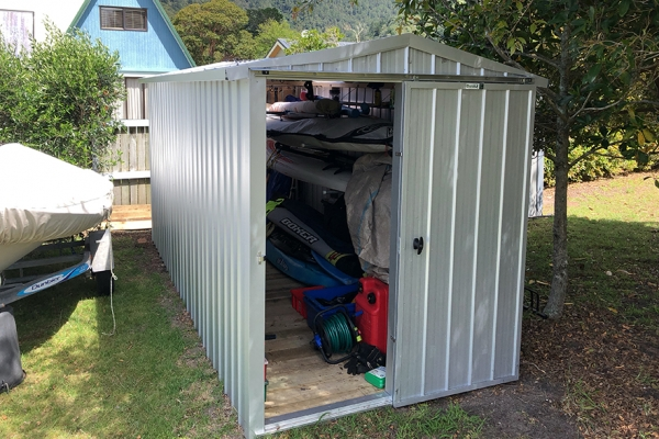 Doors on end garden shed