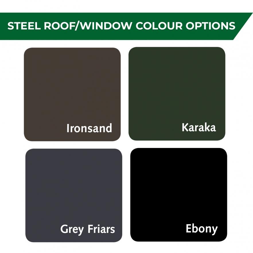 Cedar garden shed colour options