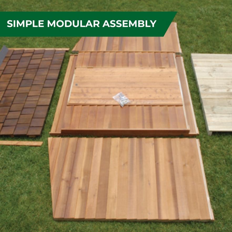 Cedar Garden Shed Modular assembly