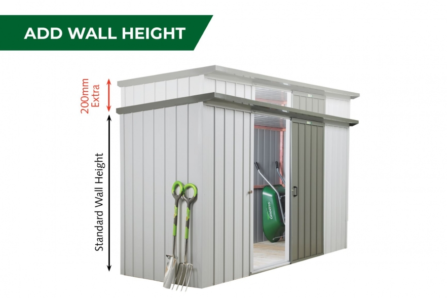 Fortress garden shed add wall height