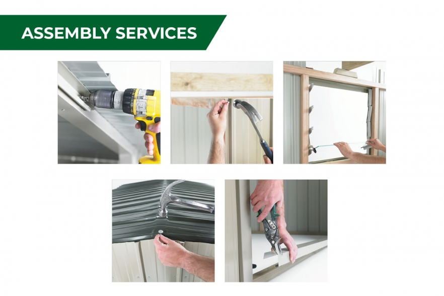 Fortress garden shed assembly services