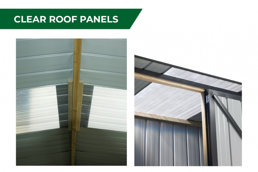 Fortress garden shed clear roof panels