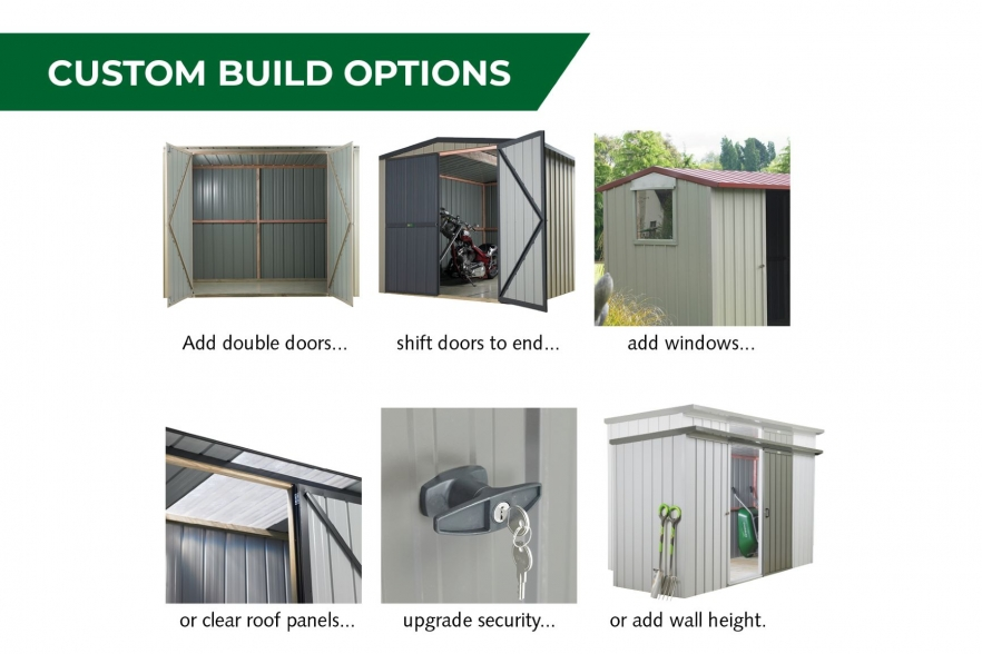 Kiwi garden shed custom options