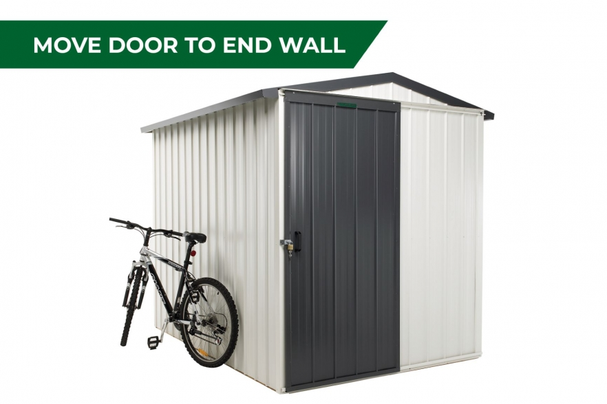 Fortress garden shed move door