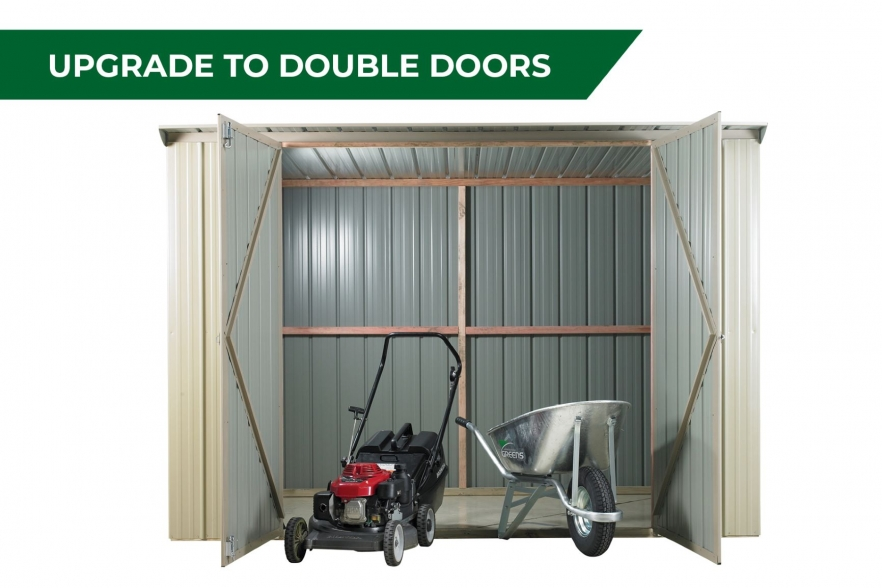Fortress garden shed double door