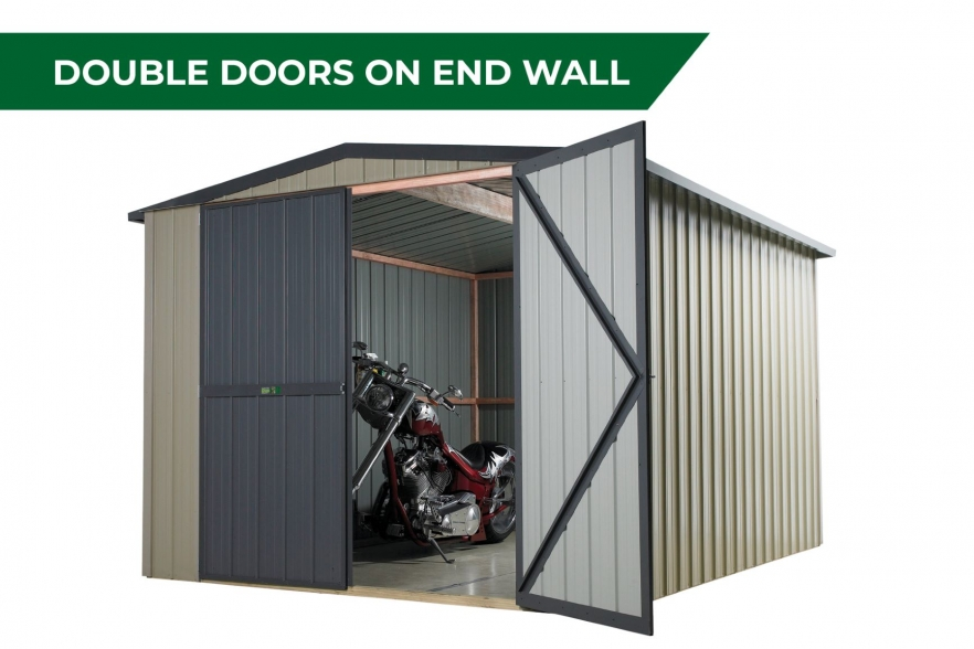 Kiwi garden shed double door end