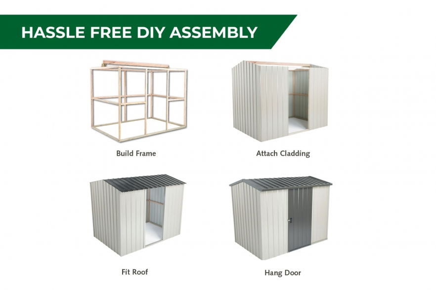 Fortress garden shed assembly
