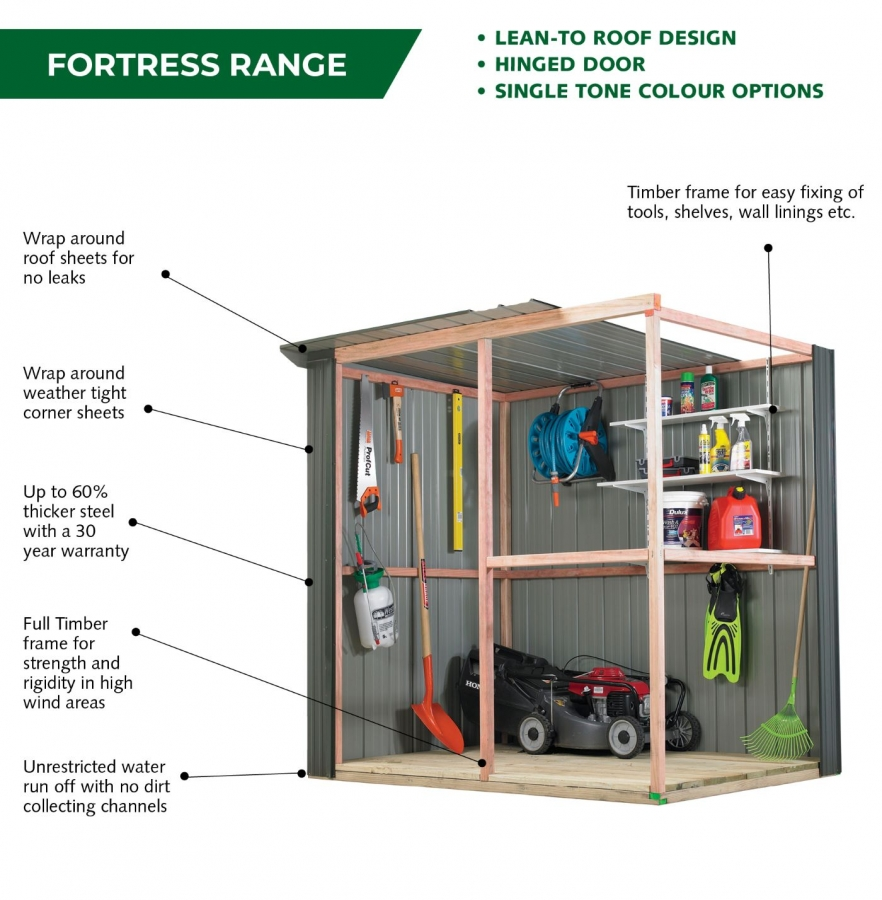 Fortress Garden Shed Features