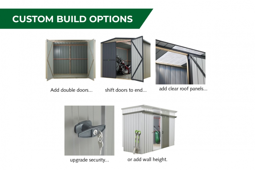 Fortress garden shed custom build options
