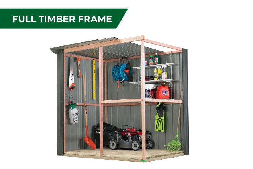 Fortress garden shed full timber frame