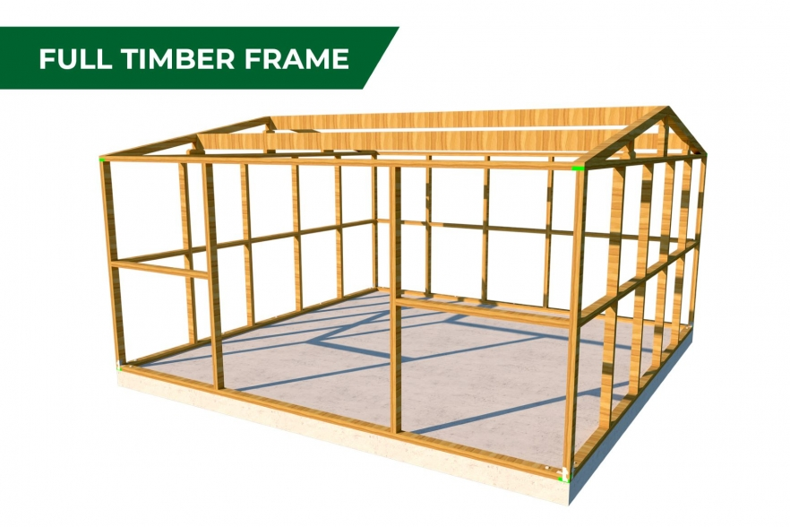 Kiwi workshop full timber frame