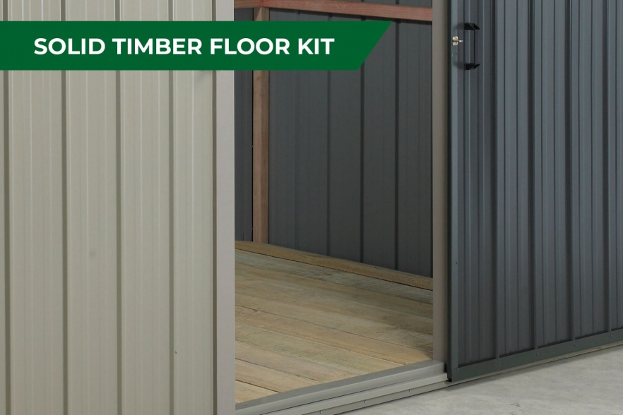 Fortress garden shed timber floor
