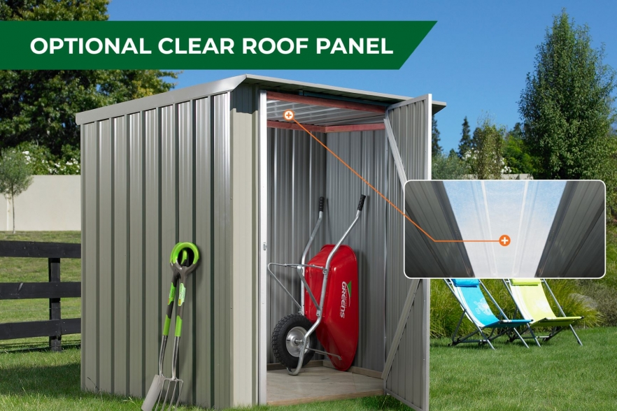 Garden shed clear roof panel