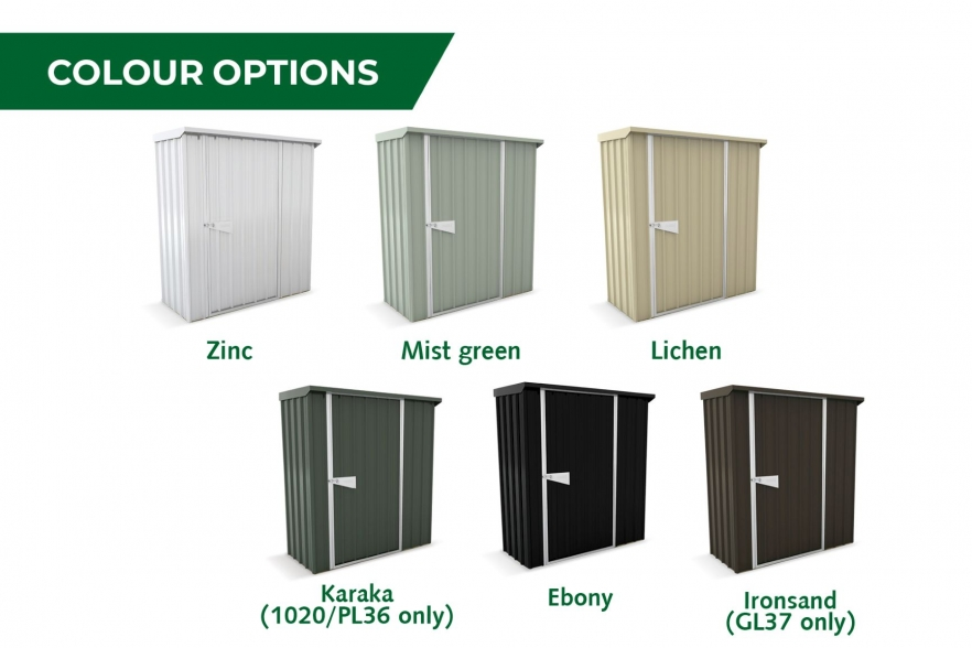 Garden shed colour options GL37