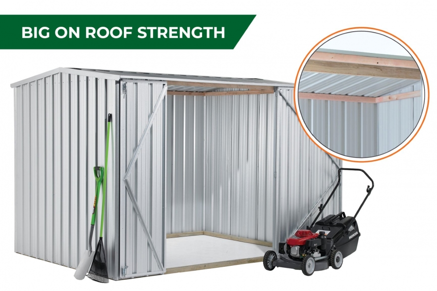 Garden shed roof strength