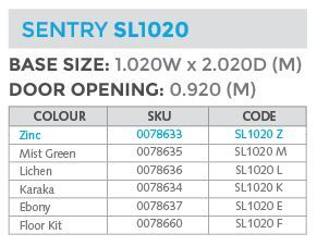 sl1020 specs shed
