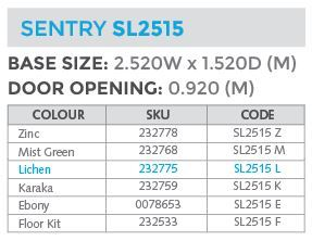 sl2515 specs shed