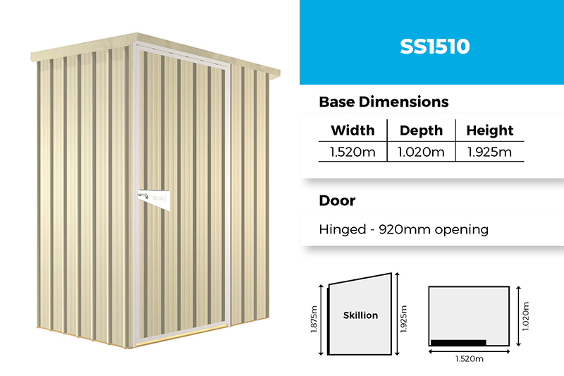 Sentry SS1510 garden shed